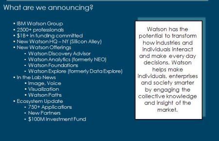 Watson Announcements